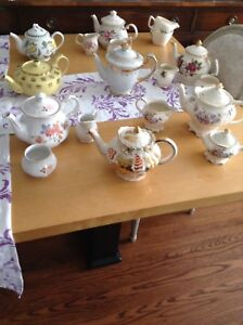 Varieties of tea pots some sadler