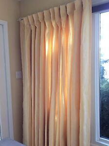 Custom curtains  -great for wide window