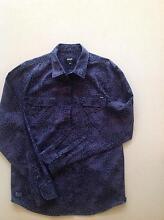 Men's Black and Purple Leopard print shirt Armidale 2350 Armidale City Preview