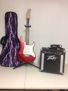 Guitare électrique pacifica avec amplie et étui