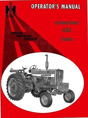 Farmall 656 International 656 Tractor Operators Manual - Hydro Static Drive