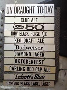 Rare...METAL HANGING BEER SIGN.. PUB SIGN
