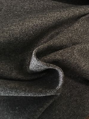 Pollack Grey Wool Upholstery Fabric- Double Faced Wool Graphite 6.65 yd 3030/04 Double Faced Wool Fabric