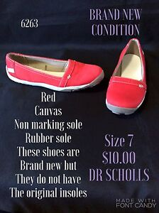 Red canvas flat size 7