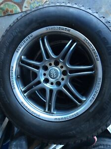 235 65 r17 tires and aluminum rims like new