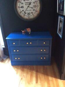 Blue wooden dresser