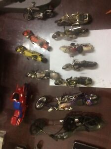 Collection of Toy Choppers, Motorcycles.