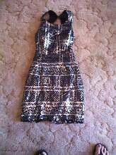 Langhem Tia Sequuin dress:   worm once: black and silver Port Pirie Port Pirie City Preview