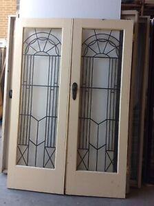 LEADLIGHT DOUBLE DOOR SET