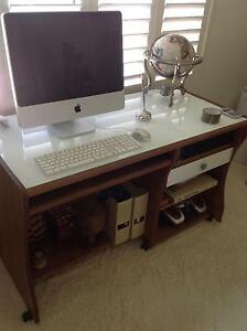 DESK WITH WHITE GLASS TOP Coombabah Gold Coast North Preview