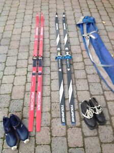 """2 PAIRS OF CROSS COUNTRY SKIS FOR SALE"""