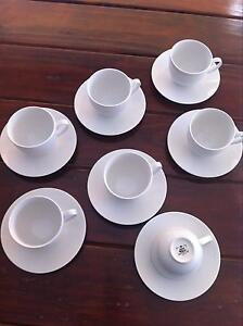 White Tea Cups & Saucers Wembley Downs Stirling Area Preview