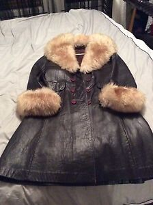 Leather and faux fur coat Nairne Mount Barker Area Preview