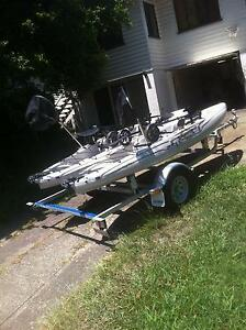 2 x HOBIE Outbacks on custom fully galv double Hobie Trailer VGC Nambour Maroochydore Area Preview