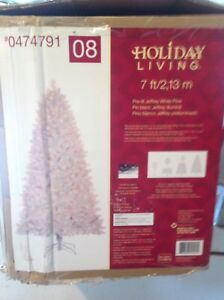 """Holiday Living"" 7ft High Pre-lit Jeffrey White Pine Tree"
