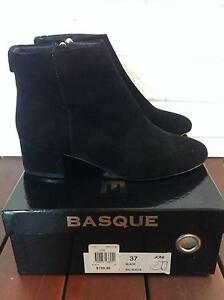 Basque Black Suede Boots - Brand New Bondi Junction Eastern Suburbs Preview