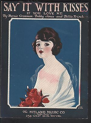 Say It With Kisses 1922 Sheet Music