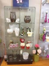 Florist shop glass cabinets and two door fridge glass shelving Leumeah Campbelltown Area Preview