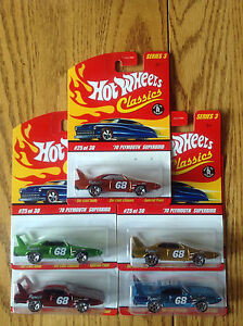 Hot Wheels Classics Series 3 #25 '70 Plymouth Superbird 5 lot
