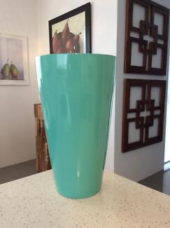 Mint coloured vase