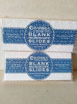 Lot Of Two Boxes Of Barska Blank Microscope Slides 100