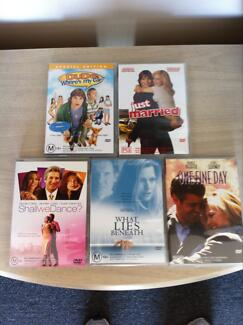 Collection of 5 DVD movies
