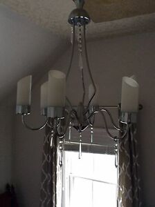 Chandelier with hanging jewels
