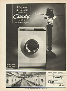publicit 1965 candy machine laver 100 automatique ebay. Black Bedroom Furniture Sets. Home Design Ideas