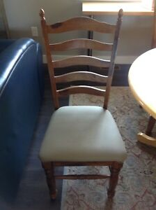 3 high backed dining table chairs