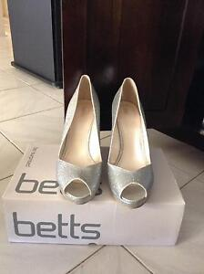 Silver Betts Wedges size9 Campbelltown Campbelltown Area Preview