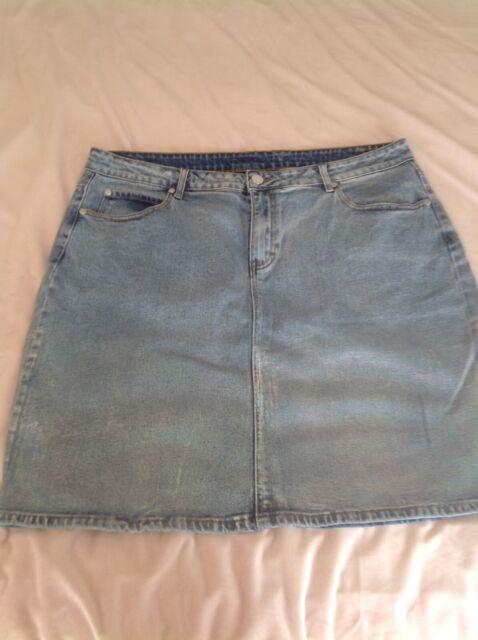 60ce5019f5 City Chic size large iridescent Denim skirt