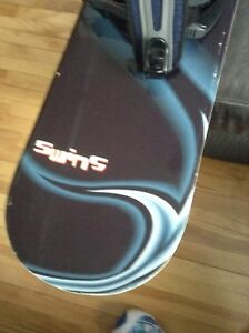 "64"" snowboard with bindings in very good condition"