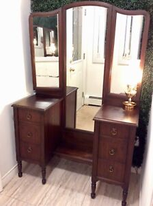 Large Antique Dresser Vanity