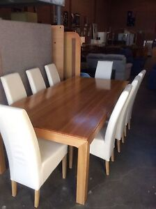 Solid American Oak 9 piece Dining Suite Wangara Wanneroo Area Preview