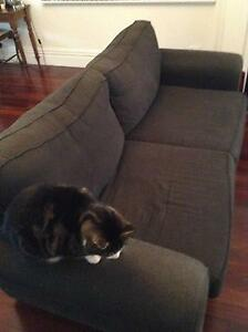Two black fabric couches Pascoe Vale South Moreland Area Preview