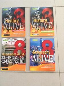 Humanities Alive Year 8. Textbooks x 4 with codes for eBooks. Hocking Wanneroo Area Preview