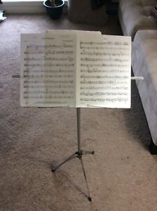 Collapsible Music Stand + Viola Sheet Music