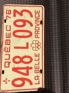 Quebec license plate 1976 olympics