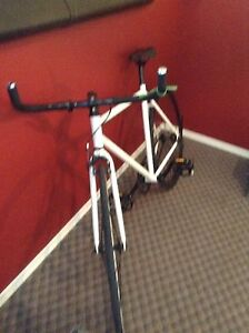 Perfect condition black and white fixie gear bike