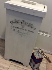 French shabby chic wood box and buoy