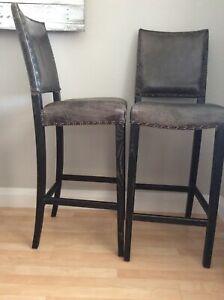 Genuine Leather bar stools