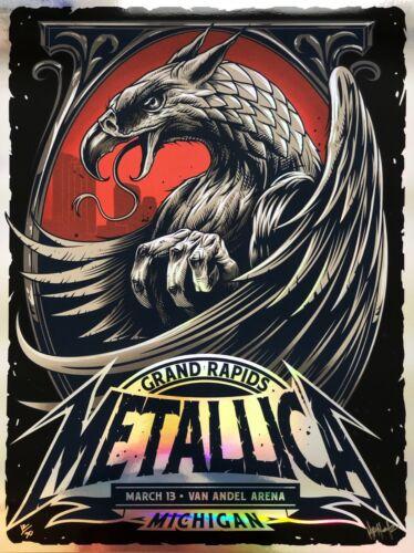Metallica Van Andel Arena Grand Rapids Michigan FOIL Poster LE 30