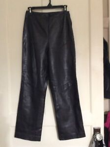 100% leather pants
