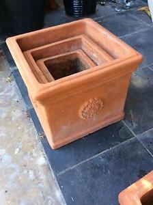 Terracotta pot nest of three Albany Creek Brisbane North East Preview