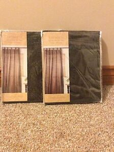Chocolate Brown Tab Top Curtains and Pillow Cases Cambridge Kitchener Area image 1