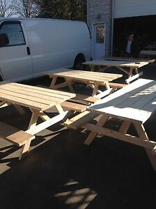 NEW PICNIC TABLES FOR SALE and A FEW KIDS PICNIC TABLES