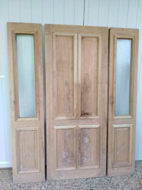 Solid Timber Entry Door Set Building Materials Gumtree Australia