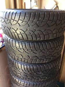 SNOW TIRES  195/60/15   (RIMS)