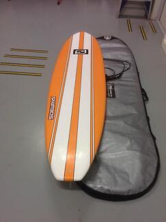 7FT 6IN Minimal Sideways Epoxy surfboard, cover& Leg rope. Peregian Beach Noosa Area Preview