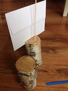 Birch wood table markers